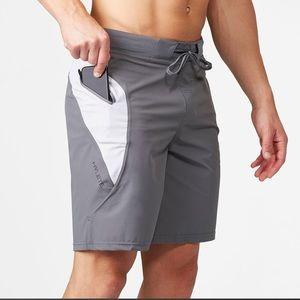 "Hylete verge quad cut workout shorts 5.5"" Large"
